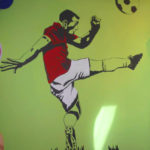 labdarúgás falfestmény