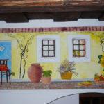 vidéki falfestmény