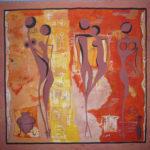 afrika falfestmény
