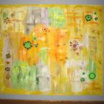 falfestmény a nappaliban