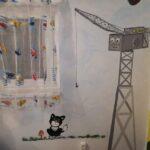 Thomas barátai falfestmény Cranky daru