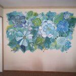 virág falfestmény