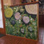 virágos falfestmény