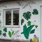 beach pálma falfestmény