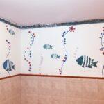 fürdőszoba dekoráció falfestmény
