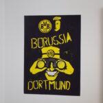 borussia dortmund logó falfestmény