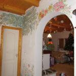 romantikus falfestmény virág fa